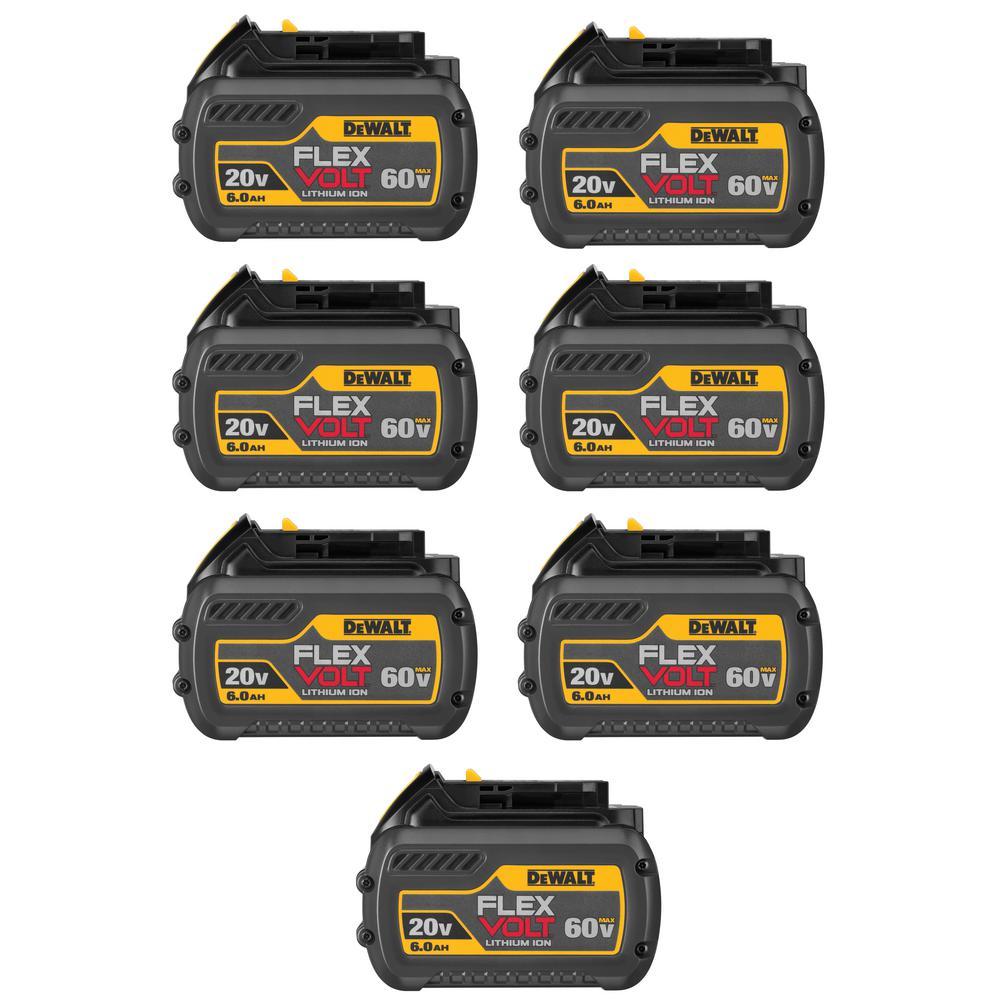 FLEXVOLT 20-Volt/60-Volt MAX Lithium-Ion 6.0Ah Battery Pack (7-Pack)