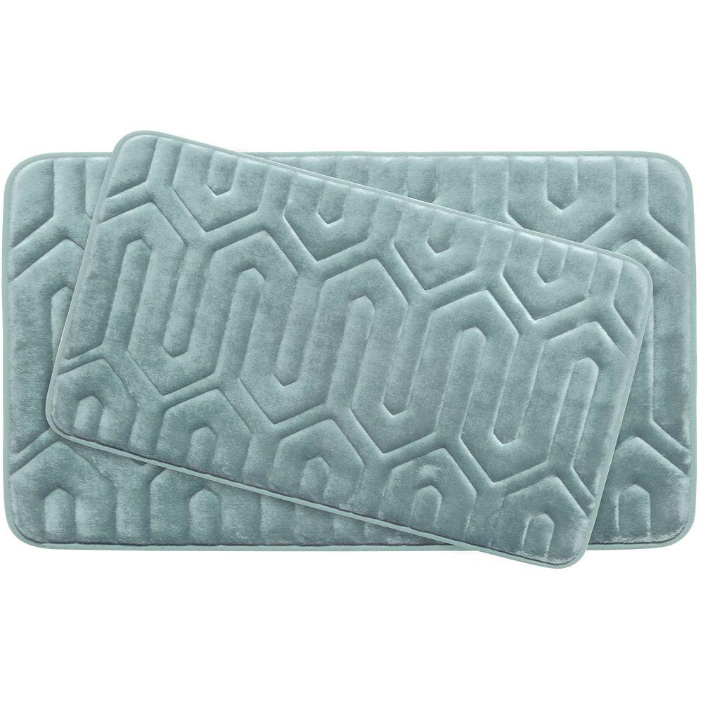 Thea Aqua Memory Foam 2-Piece Bath Mat Set