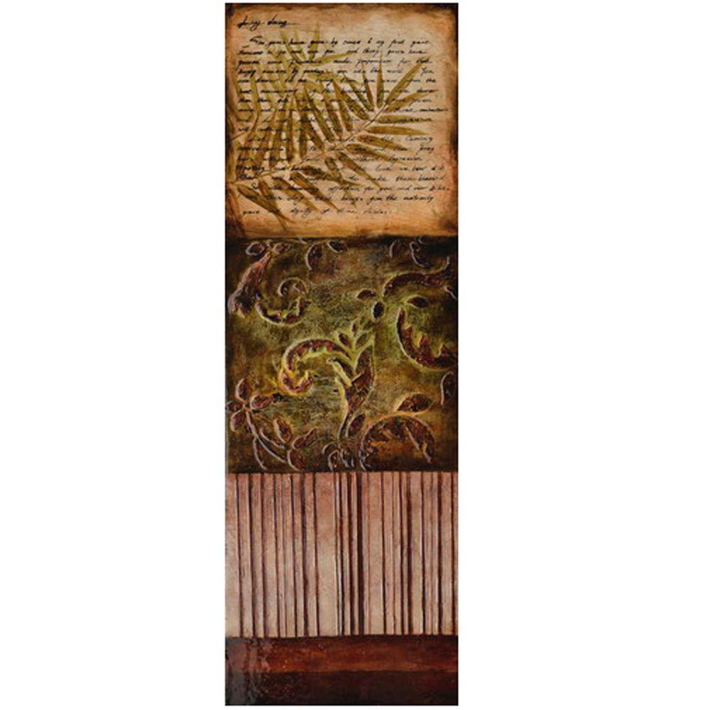 Yosemite Home Decor 15.5 in. x 47 in. Green Foliage II Hand Painted Contemporary Artwork