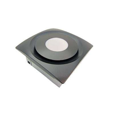 Slim Fit 90 CFM Ceiling or Wall Bathroom Exhaust Fan with LED Light and Humidity Sensor, Oil Rubbed Bronze