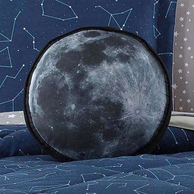Kids Moon Printed Round Pillow