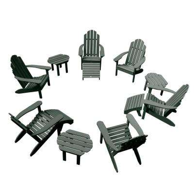 Classic Wesport Charleston Green 12-Piece Plastic Patio Fire Pit Seating Set