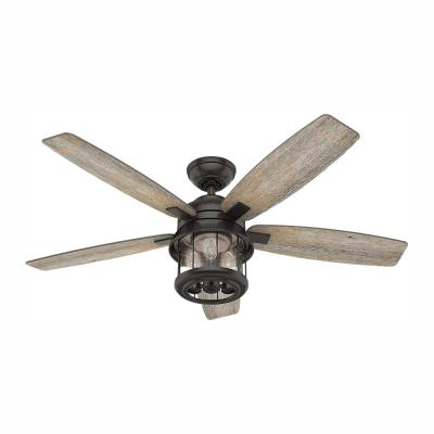 Coral Bay 52 in. LED Indoor/Outdoor Noble Bronze Ceiling Fan with Handheld Remote and Light Kit