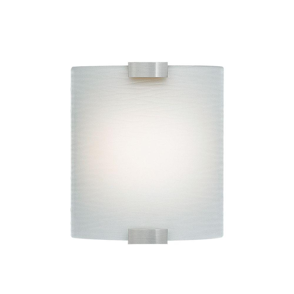 Omni 1-Light Silver Small LED Sconce with White Shade