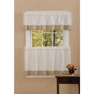 Achim Semi-Opaque 14 inch L Oakwood Natual Valance in Natural by Achim