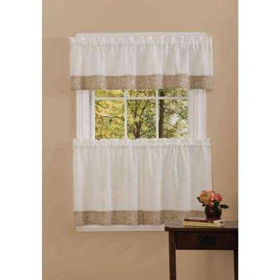 Semi-Opaque 14 in. L Oakwood Natual Valance in Natural