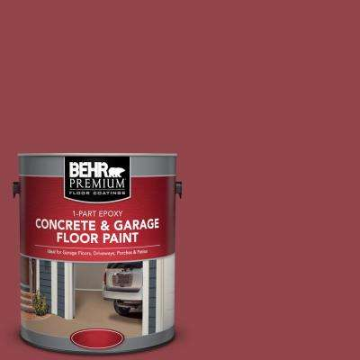 1 gal. #M140-6 Circus Red 1-Part Epoxy Concrete and Garage Floor Paint
