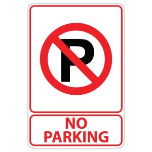 Rectangular Plastic No Parking Sign by