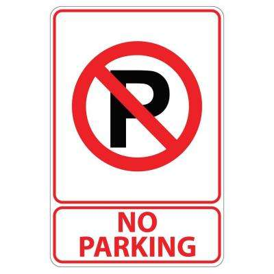 Rectangular Plastic No Parking Sign