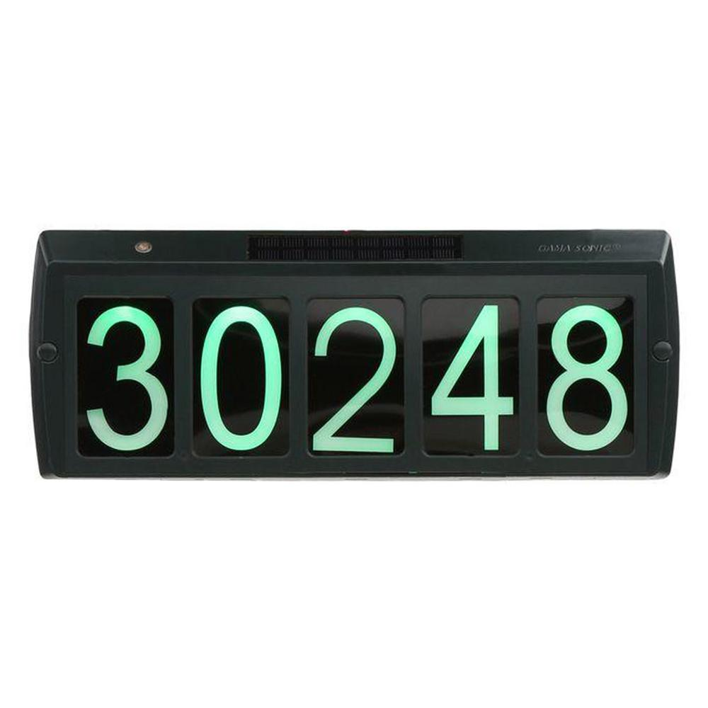 Address Lights Outdoor Specialty Lighting The Led Accent Wiring Diagram Solar Powered Illuminated Sign