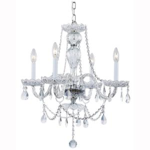 Hampton Bay Lake Point 4-Light Chrome and Clear Crystal Chandelier by Hampton Bay