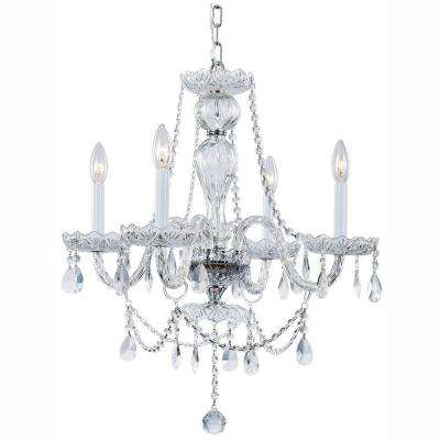 Lake Point 4-Light Chrome and Clear Crystal Chandelier