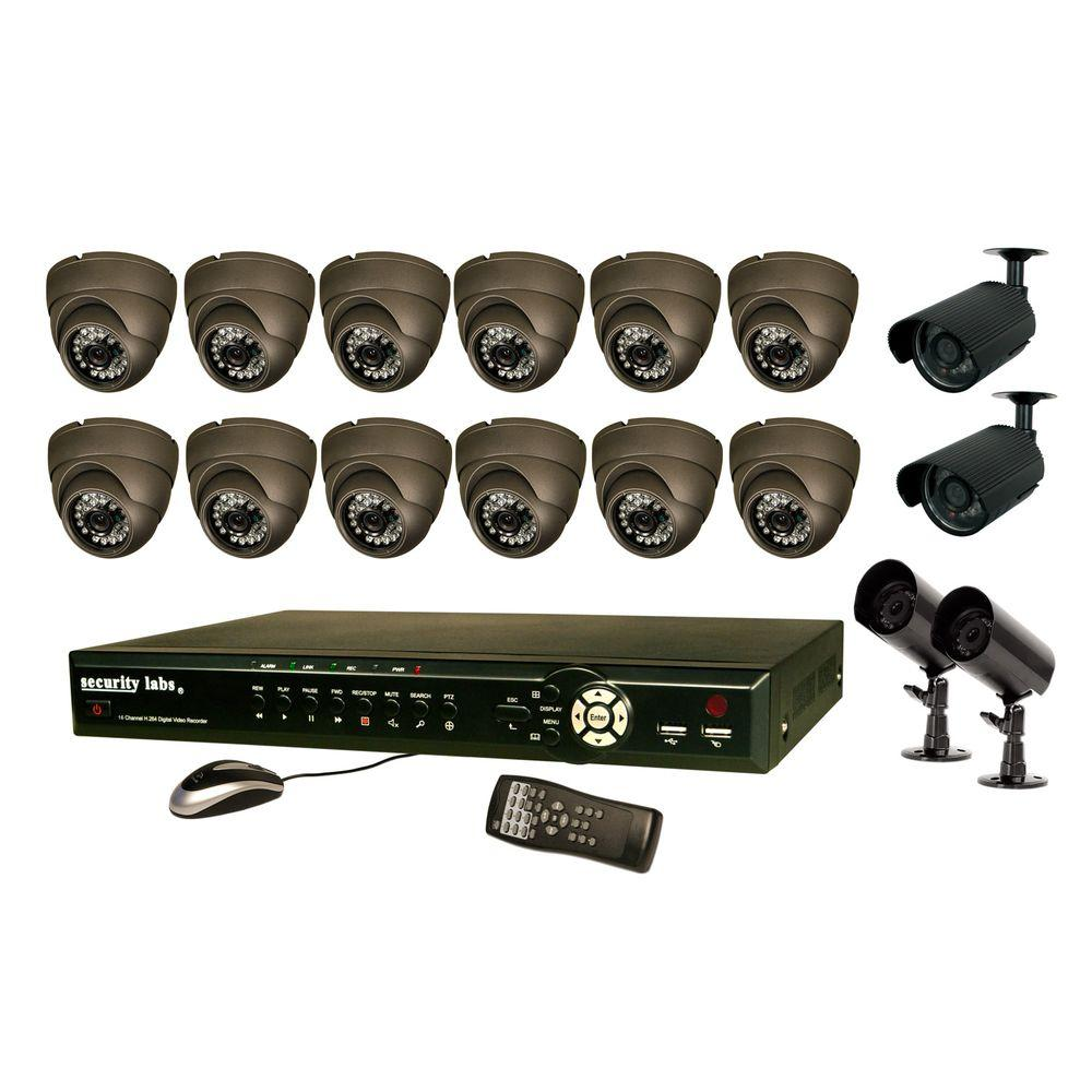 Security Labs 16 CH 1 TB Hard Drive Surveillance System with (16) 420 TVL Cameras-DISCONTINUED
