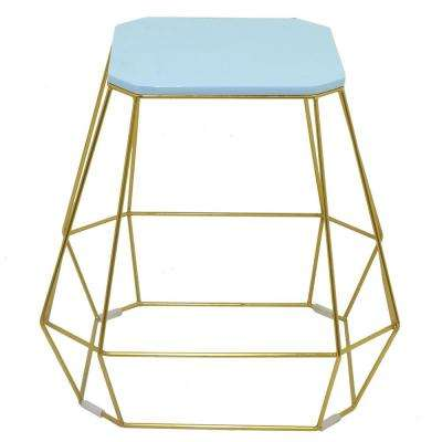 17.25 in. Metal Accent Table in Blue