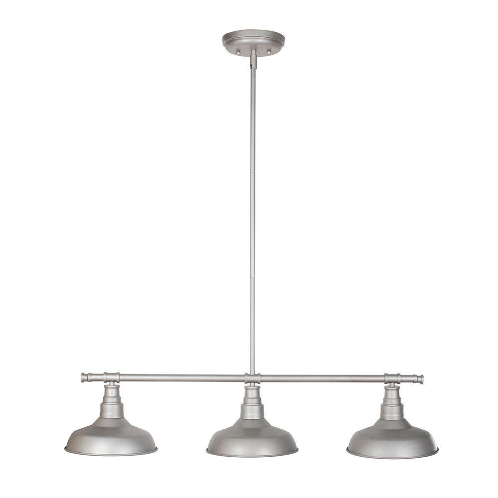 Design House Kimball Light Galvanized Steel Indoor Pendant - Three light pendant kitchen