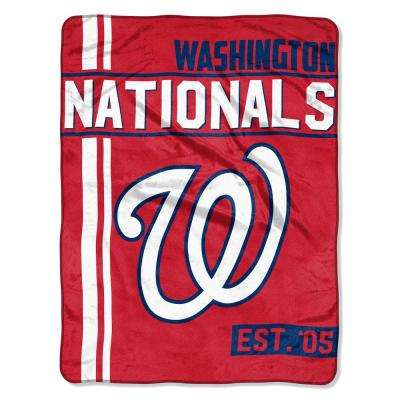 Nationals Multi Color Polyester Walk Off Micro Blanket