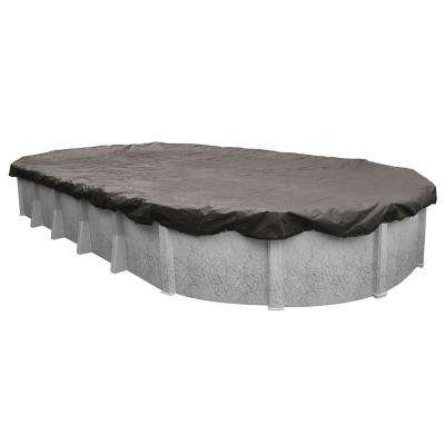 Magnesium 15 ft. x 30 ft. Oval Above Ground Pool Winter Cover