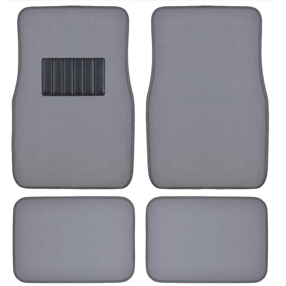 Classic MT-100 Light Gray Carpet With Rubberized Backing 4-Piece Car Floor