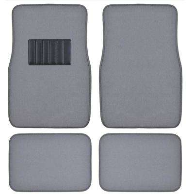 Classic MT-100 Light Gray Carpet With Rubberized Backing 4-Piece Car Floor Mats