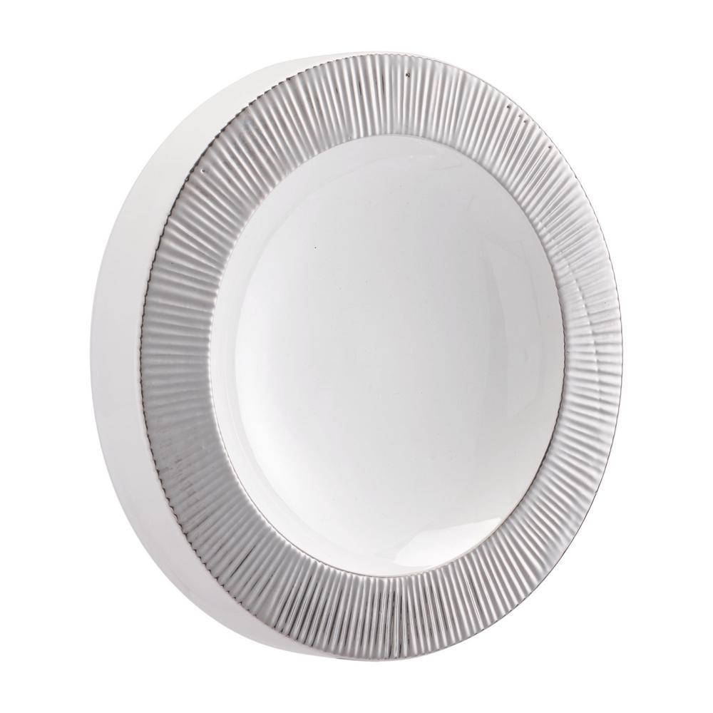Plato Silver and White Small Wall Decor