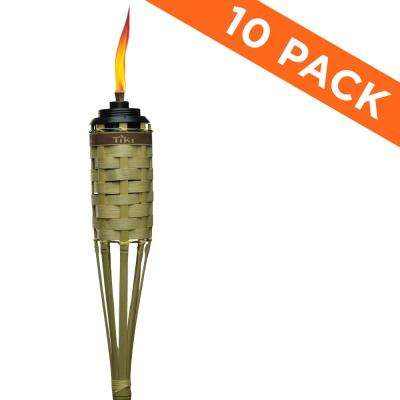57 in. Natural Barbados Bamboo Torch with Easy Pour System (10-Pack)