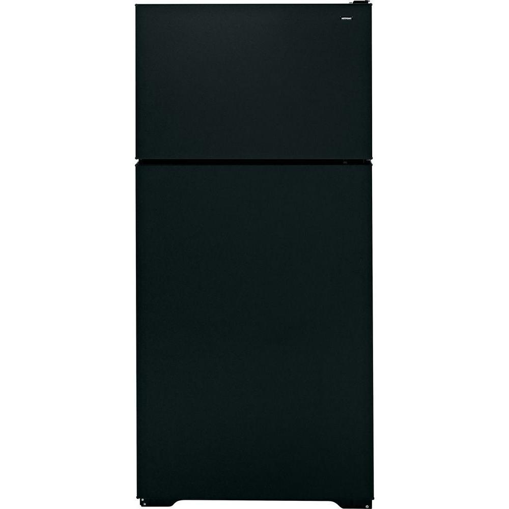 Hotpoint 28 in. W 15.6 cu. ft. Top Freezer Refrigerator in Black