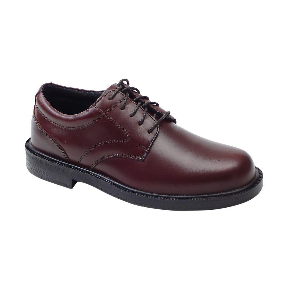 Deer Stags Times Brown Size 10 Medium Plain Toe Oxford Shoe for Men