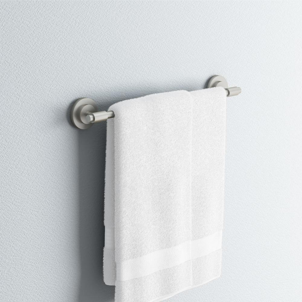 ISO 18 in. Towel Bar in Spot Resist Brushed Nickel