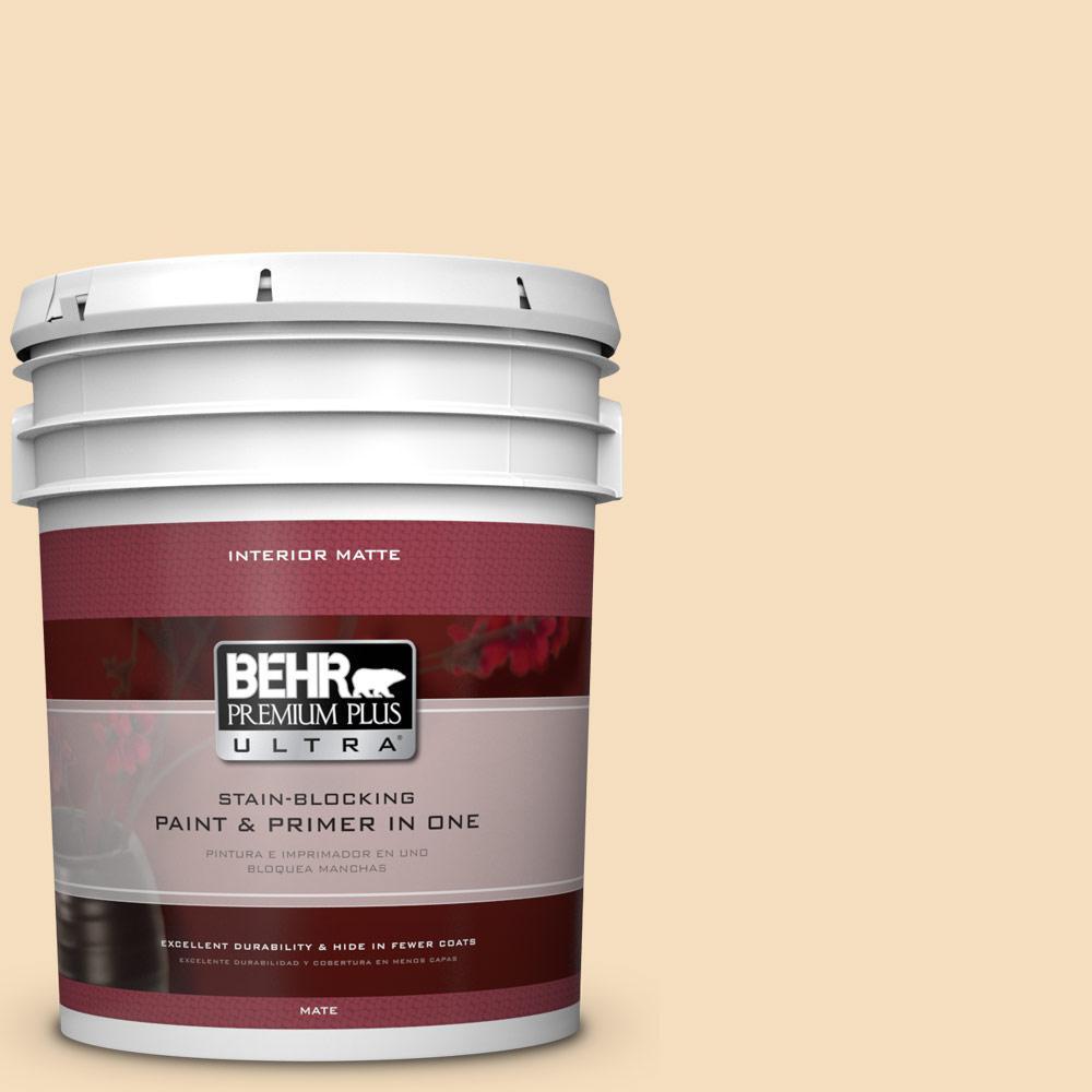 5 gal. #320E-2 Cracked Wheat Flat/Matte Interior Paint