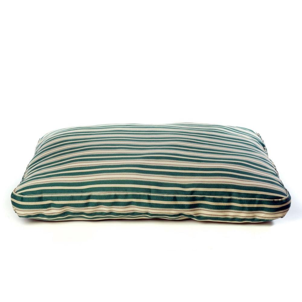 Carolina Pet Company Small Green Indoor/Outdoor Striped Jamison Bed Carolina Pet Company Small Green Indoor/Outdoor Striped Jamison Bed