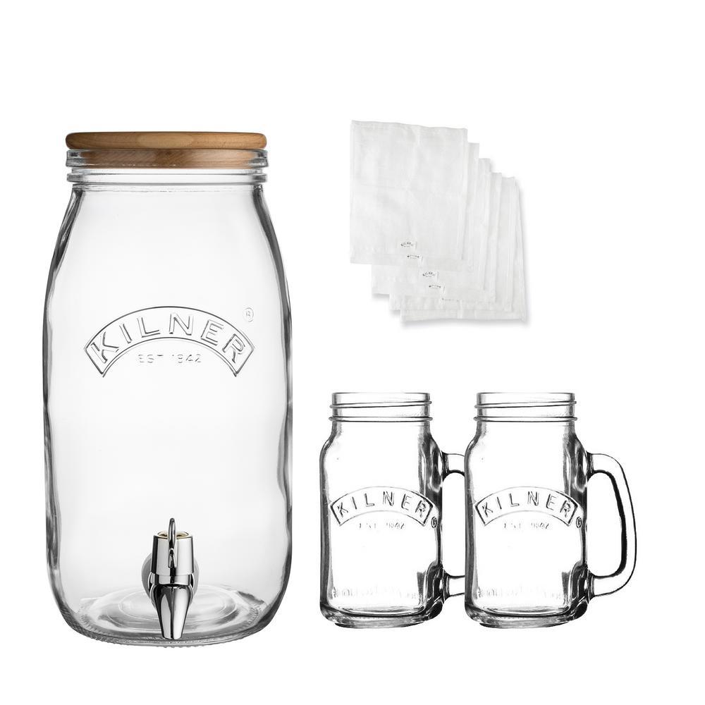 Kombucha Glass Drink Making Set