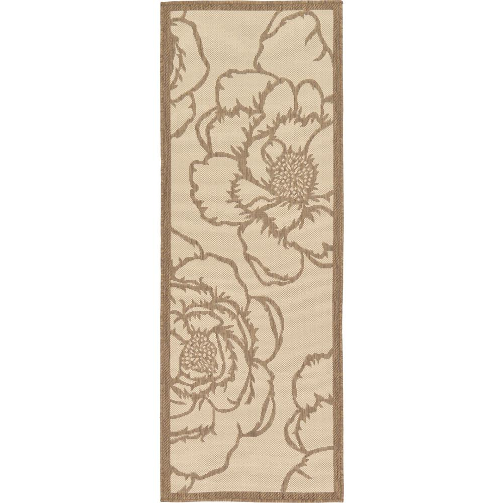 Outdoor Beige 2 ft. 2 in. x 6 ft. Runner