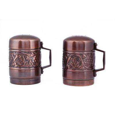 4.25 in. Antique Embossed Heritage Stovetop Salt and Pepper Set