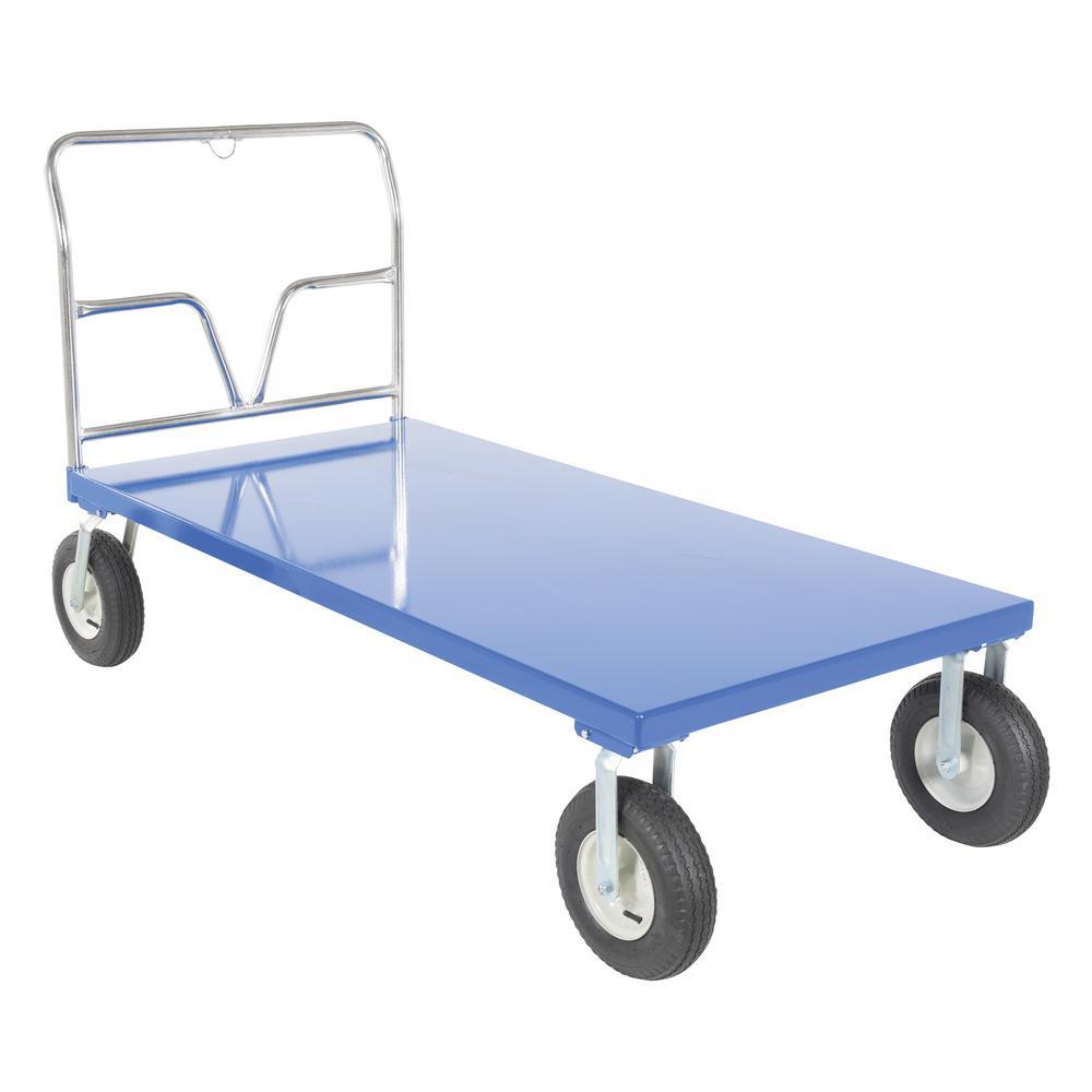 36 in. x 72 in. Pneumatic Tire Platform Cart