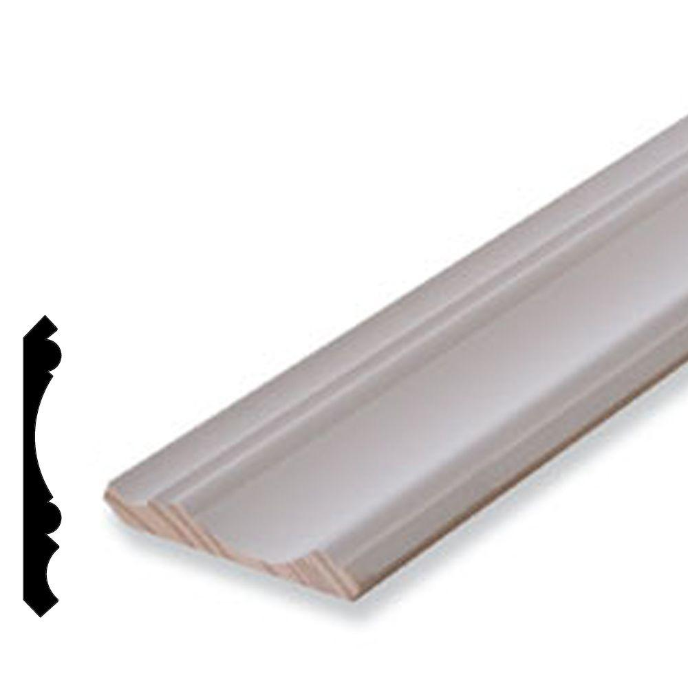 Alexandria Moulding 11/16 in. x 5-1/4 in. Primed Pine Finger-Jointed Crown Moulding