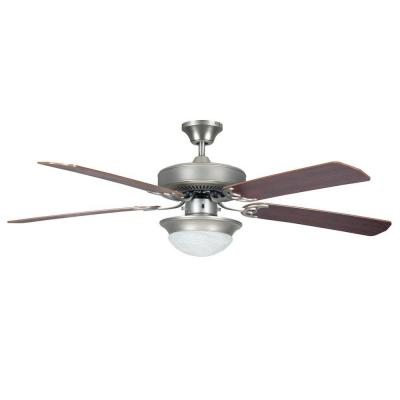 Heritage Fusion Series 52 in. Indoor Satin Nickel Lighted Ceiling Fan