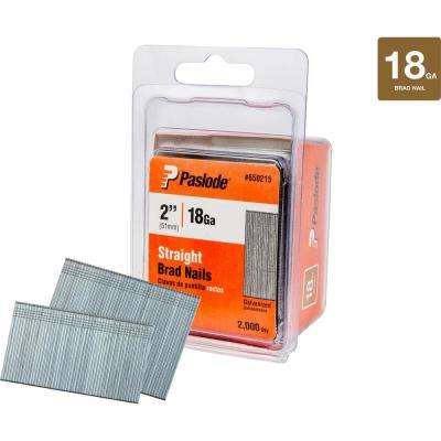 2 in. x 18-Gauge Galvanized Brad Nails (2000 per Box)