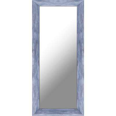 9.5 in. x 21.5 in. Blue Patina Plain Decorative Mirror (Set of 2)