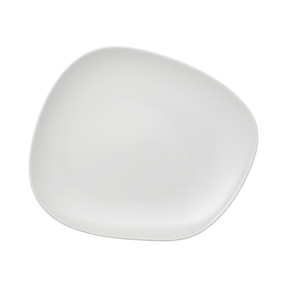 Organic White 11-3/4 x 9-1/2 Dinner Plate