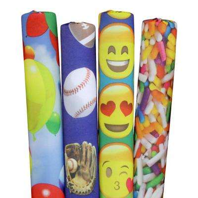 Sprinkles, Sports, Emojis and Foods Pool Noodles (4-Pack)
