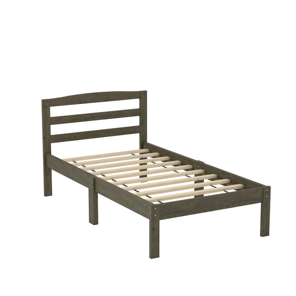 Jade Grey Twin Bed