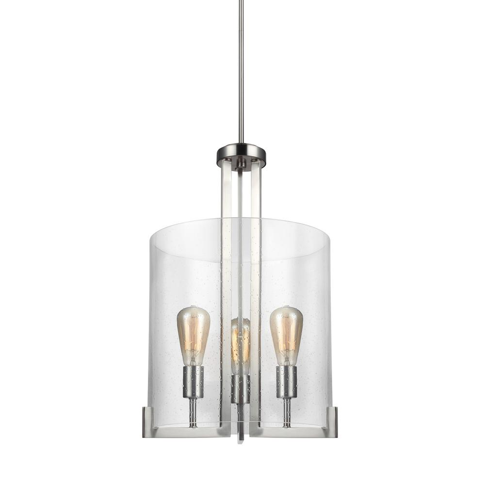 Dawes 3-Light Brushed Nickel Pendant