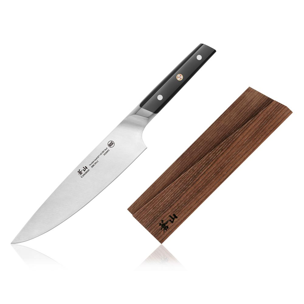 cangshan tc series swedish sandvik steel forged 8 in chef knife and wood sheath set 1020908. Black Bedroom Furniture Sets. Home Design Ideas