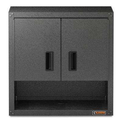 Ready to Assemble 28 in. H x 28 in. W x 12 in. D Steel Garage Wall Cabinet with Shelf in Hammered Granite