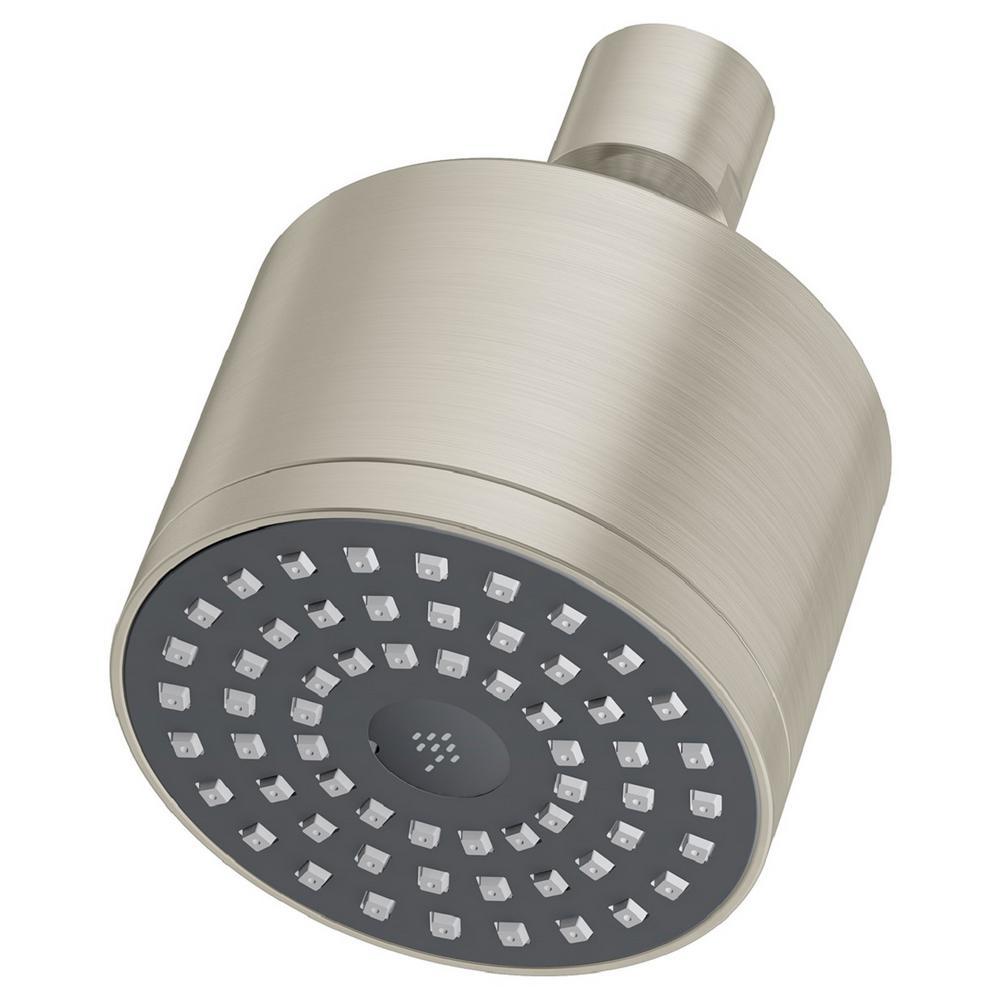 Dia 1-Spray 3 in. Fixed Shower Head in Satin Nickel