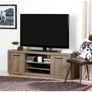Kanji Weathered Oak Storage Entertainment Center
