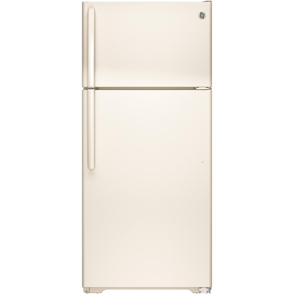GE 15.5 cu. ft. Top Freezer Refrigerator in Bisque, ENERGY STAR