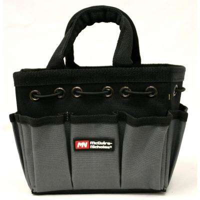 8 in. Tool Bag in Black and Grey