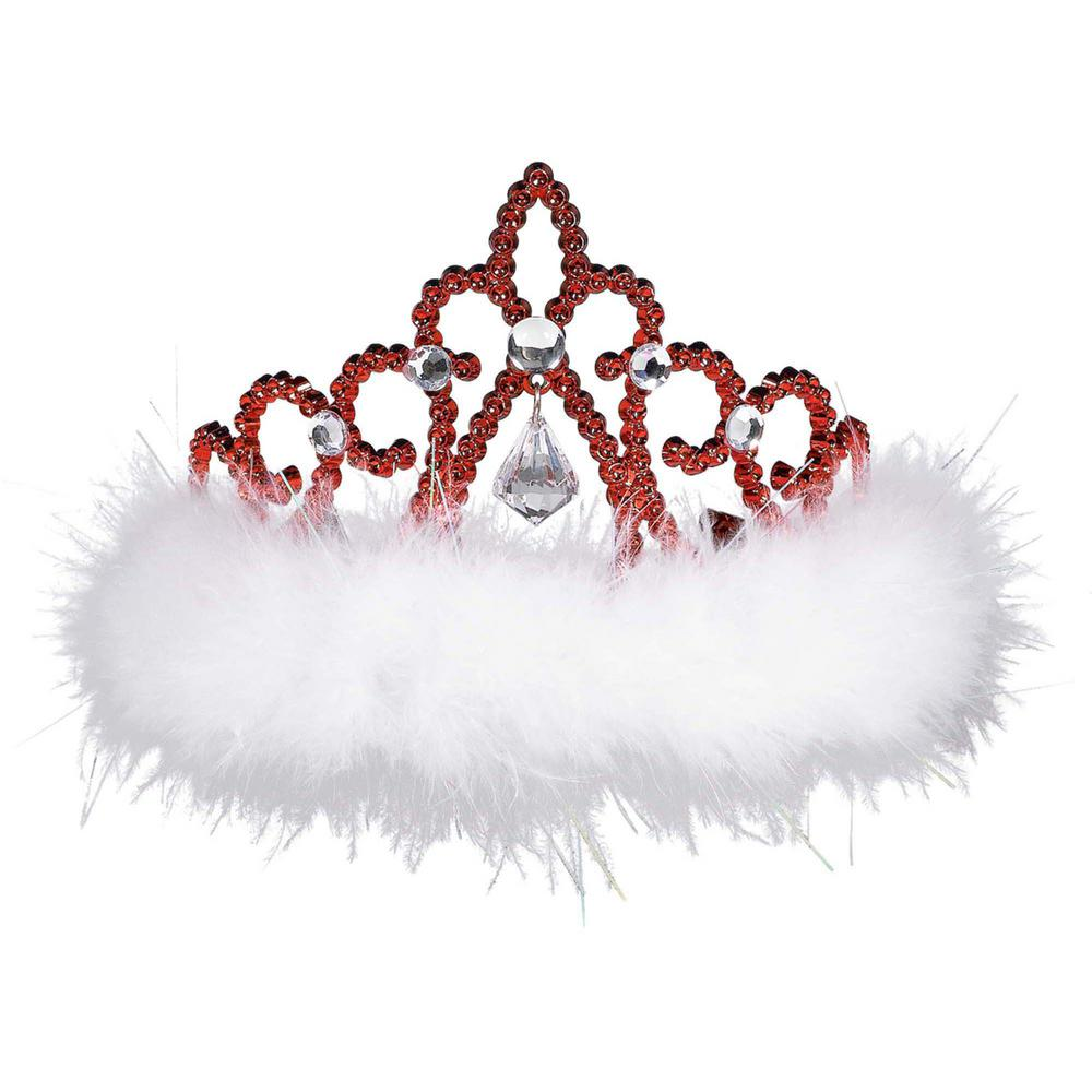 4 in. x 3.5 in. Christmas Tiara (3-Pack)