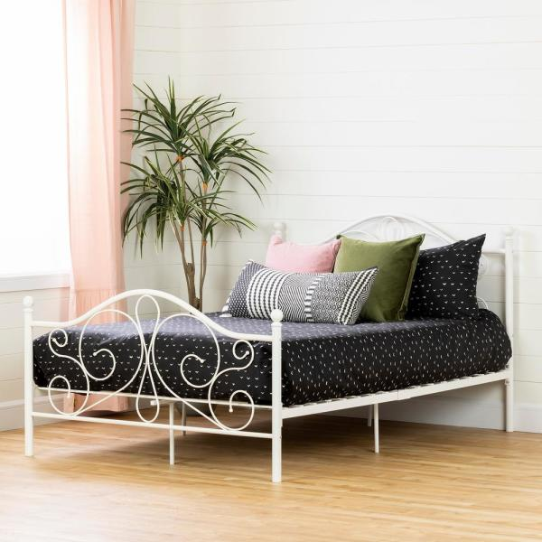 South Shore Summer Breeze White Full Bed